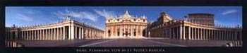 St Peter's Basilica in Rome, panoramic view