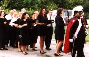 Marty Bramlette directs and leads the choir.