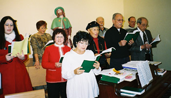 San Rocco Choir, before Christmas Mass