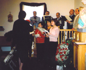 Christmas, 2005: carols before Mass