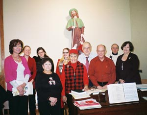 Christmas, 2010. From the choir, above, are missing Tom Planera and Don Ternes.