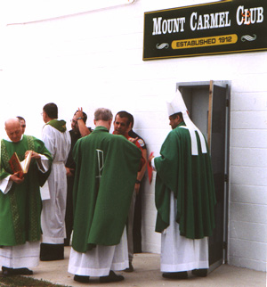 The Mt. Carmel Club was set up for the parents of students in the San Rocco grade school, named Our Lady of Mt. Carmel. The club was set up originally for men only; it was built on property just east of the school.