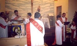 Proclamation of the Gospel by two deacons