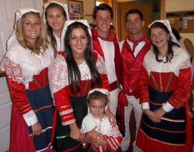San Lorenzo: Aug. 16, 2015; Amaseno Italians in period costumes