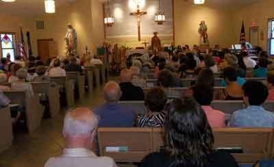 Mass at San Rocco church Aug 16, 2015